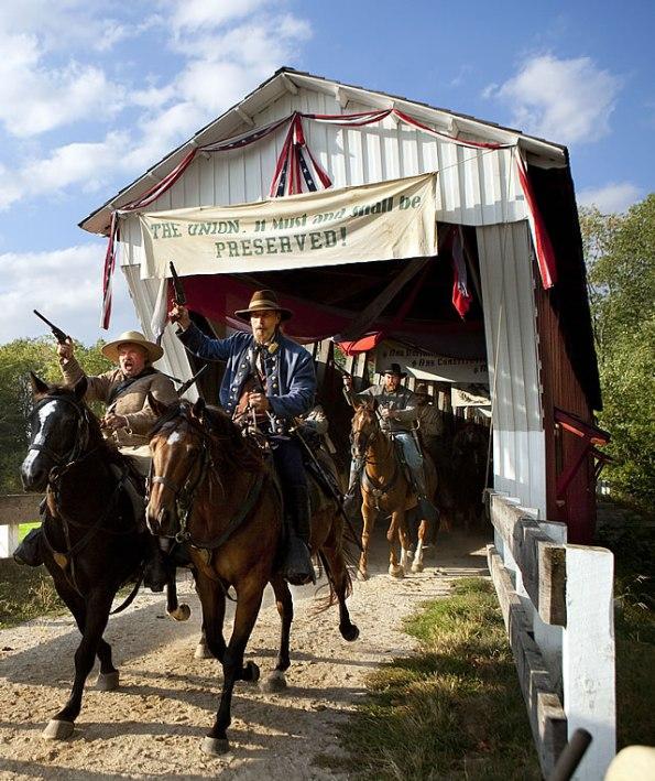 Morgan's Raiders reenactment at Conner Prairie.