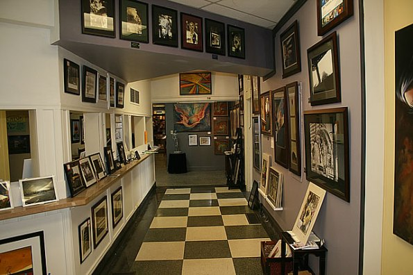 Inside the Art Bank Gallery.