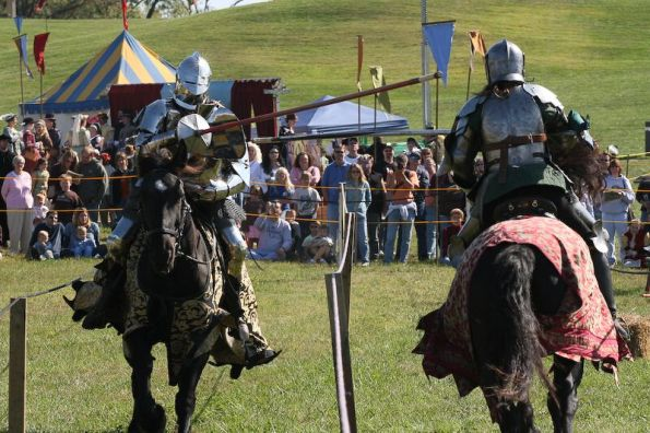 Jousting at the Fishers Renaissance Faire