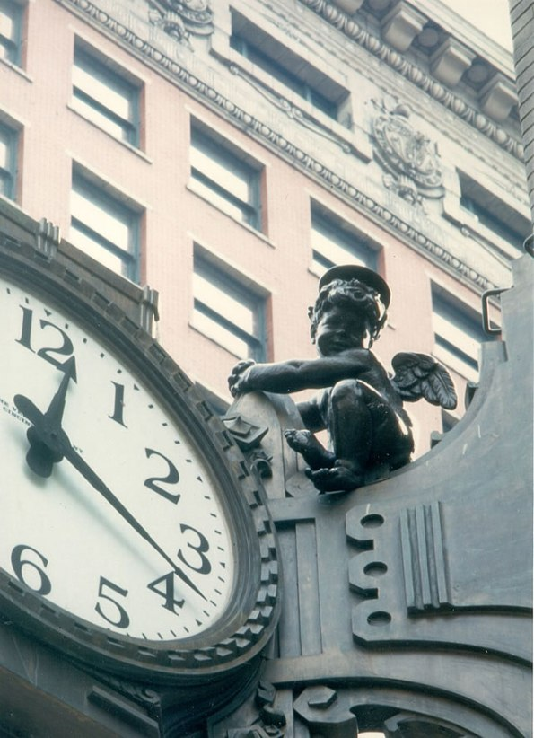 LS Ayres Cherub in downtown Indianapolis