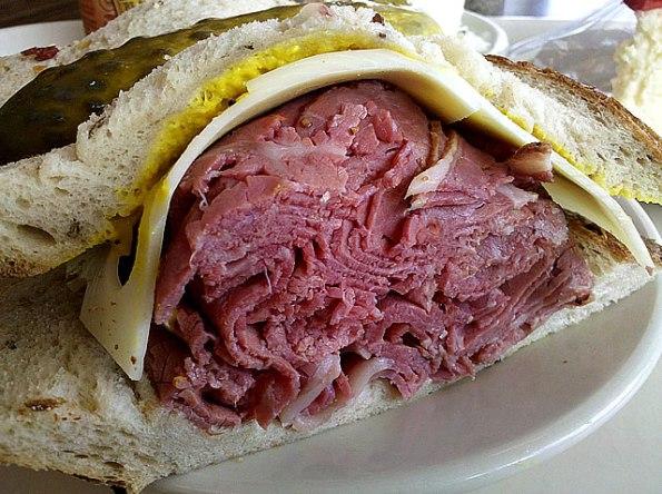 Peppered Beef at Shapiro's Delicatessen