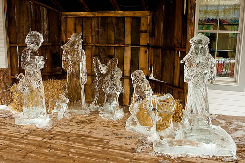 Nativity Scene at the Shipshewana Ice Festival