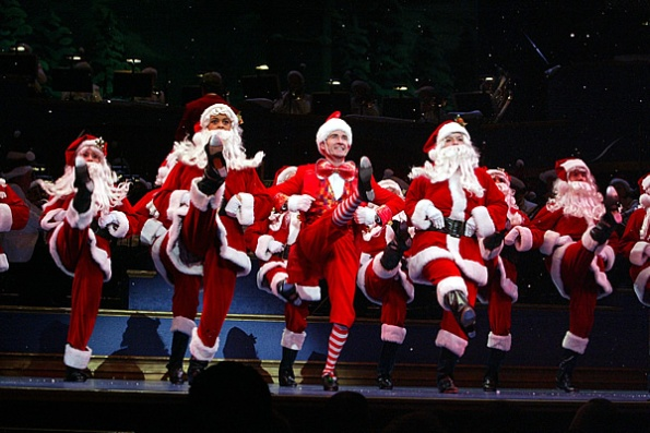 Dancing Santas at Yuletide Celebration, Hilbert Circle Theatre