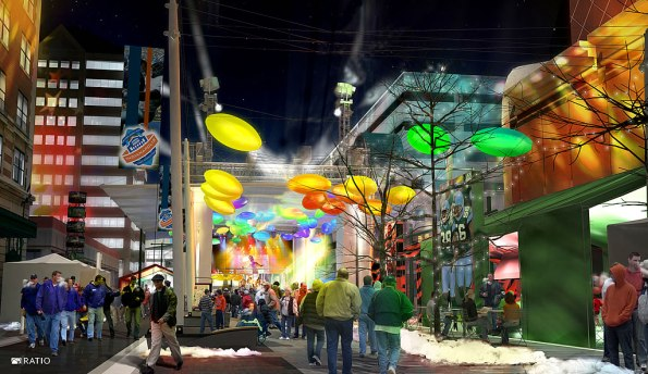 Artist's Rendering of Super Bowl Village.