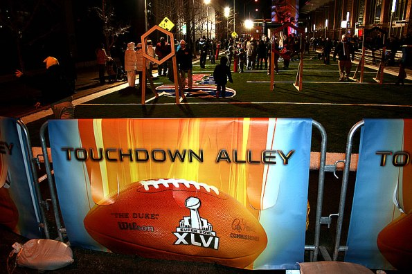 Touchdown Alley on South Capitol Avenue at Super Bowl Village