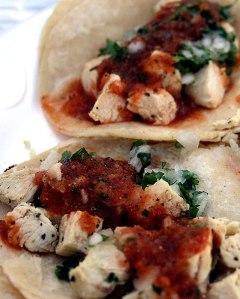 Chicken Tacos at West Coast Tacos