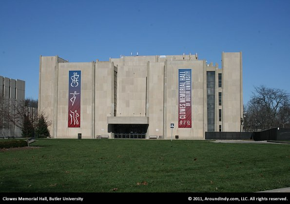 Clowes Memorial Hall on the Butler University campus.