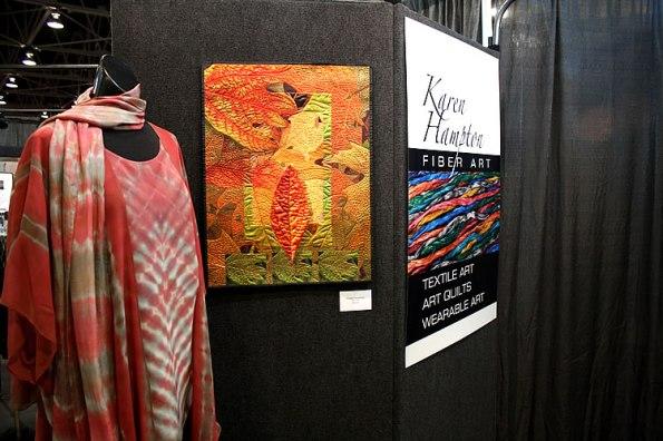 Karen Hampton Fiber Art Display