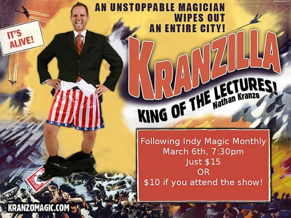 Nathan Kranzo at Indy Magic Monthly, Mar. 6.