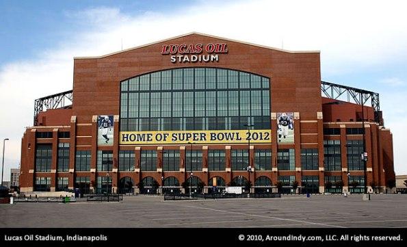 Lucas Oil Stadium, home of Super Bowl 2012.