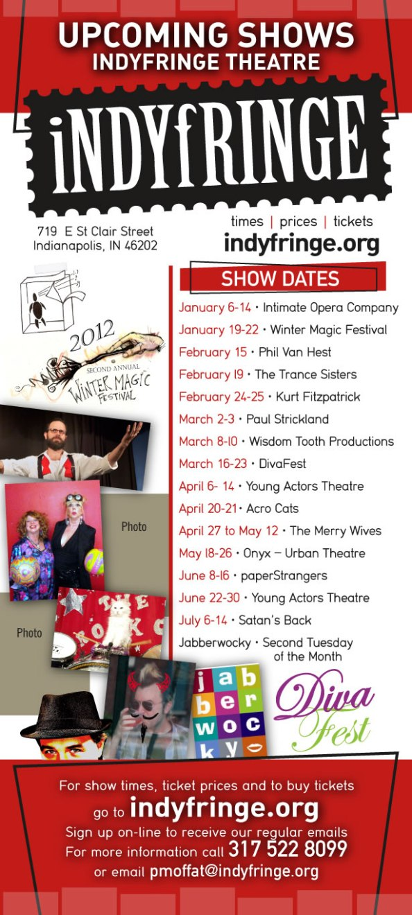 Upcoming IndyFringe Theatre shows