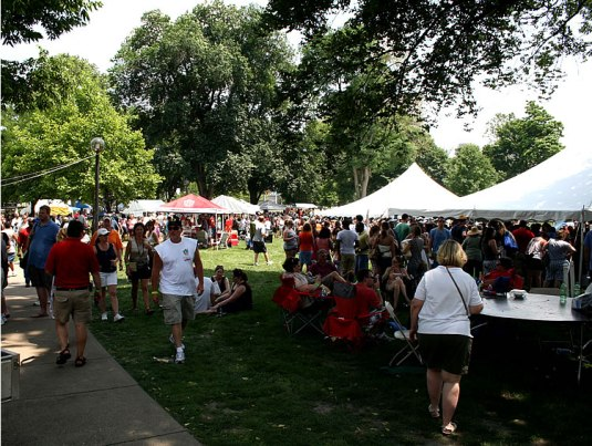 At the 2011 Vintage Indiana Wine & Food Festival.
