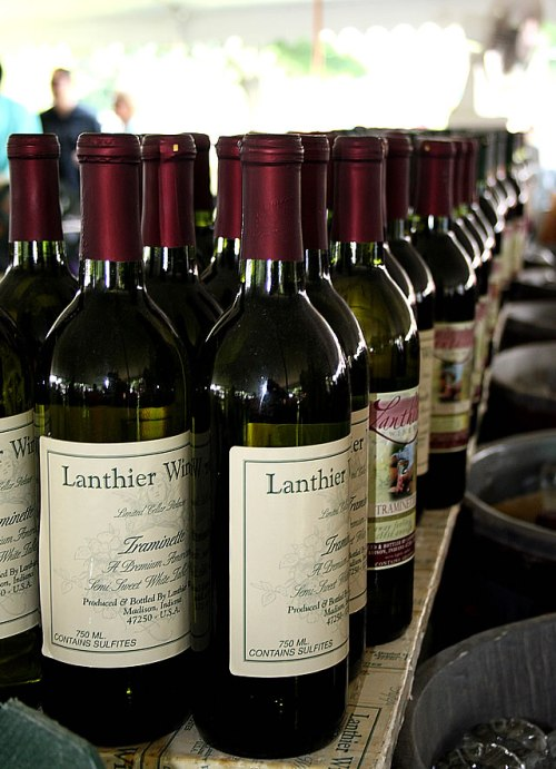 Lanthier Winery wines at 2011 Vintage Indiana festival.