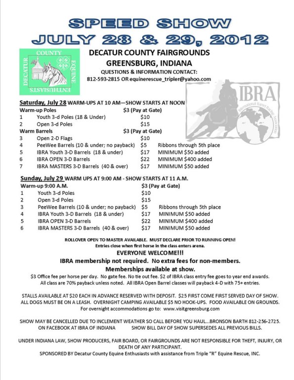 Speed Show at Decatur County Fairgrounds