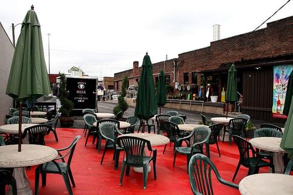 Easley Winery Courtyard