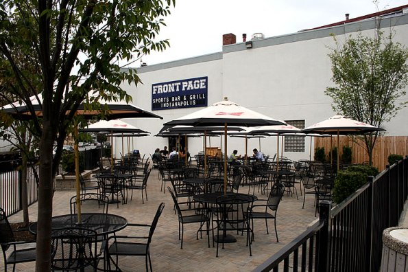 The patio at Front Page Sports Bar