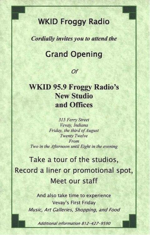 Froggy Radio Grand Opening