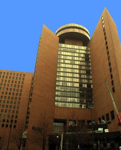 Hyatt Regency Hotel in downtown Indianapolis