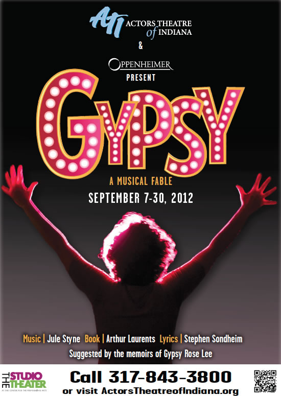 """Gypsy"" by Actors Theatre of Indiana at the Studio Theater in Carmel"