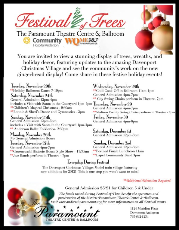 Paramount Theatre Festival of Trees