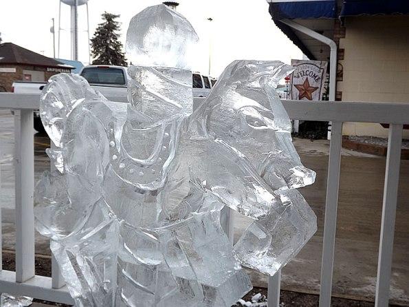 Carousel Horse Ice Sculpture