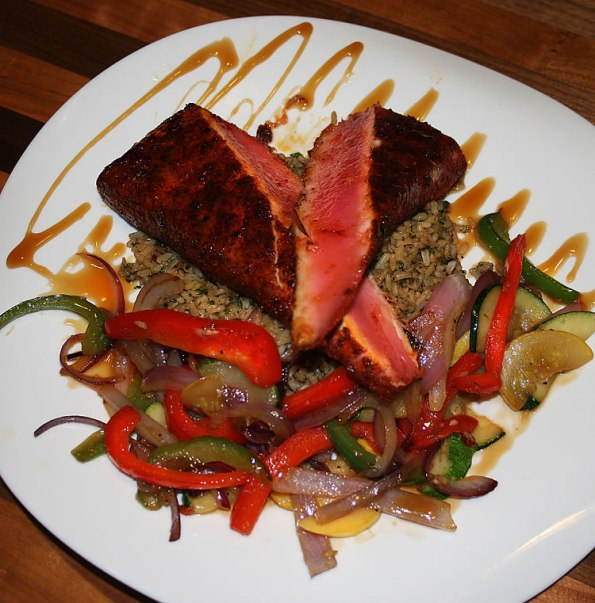 Blackened Ahi Tuna at the Colts Grille