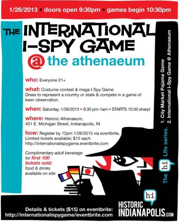 Internationl I-Spy Game at the Athenaeum