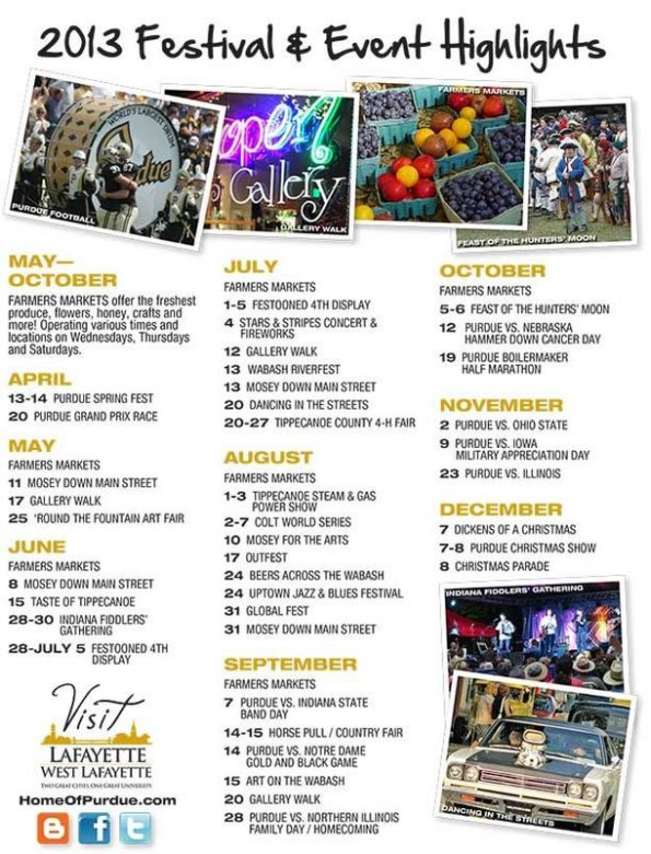 Lafayette Events for 2013