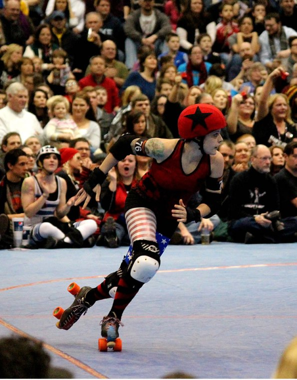 The Naptown Roller Girls' Maiden America.