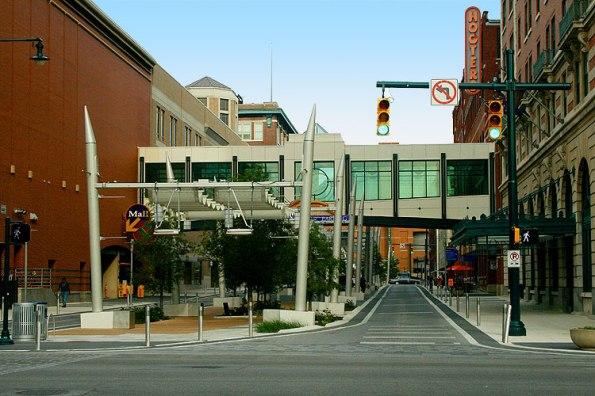 Georgia Street in Downtown Indianapolis