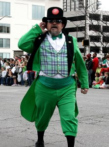 At last year's St. Patrick's Day Parade in Downtown Indianapolis