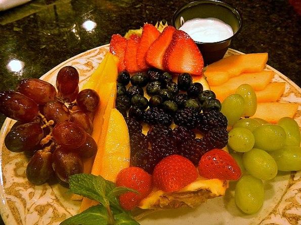 Fruit Platter at Another Broken Egg Cafe.