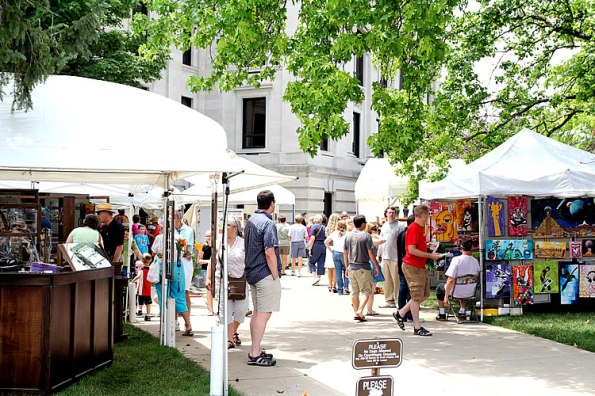 Arts Fair on the Square in Bloomington, June 22
