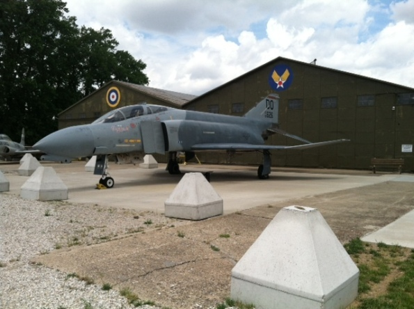 A US Air Force F4 Phantom on display at the Indiana Military Museum.