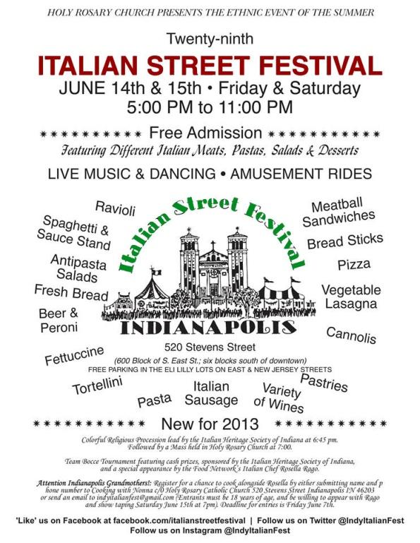Italian Street Festival Flyer
