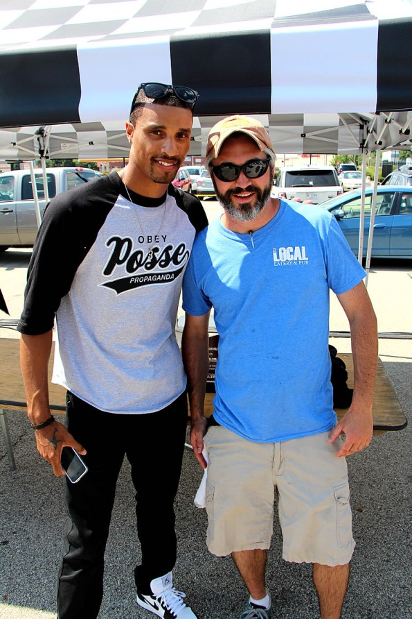 George Hill with Craig Baker