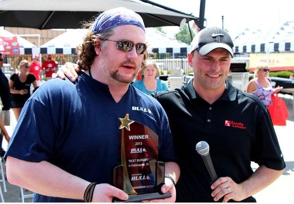 Mark Medlin was the top winner in the Bull Burger Battle.