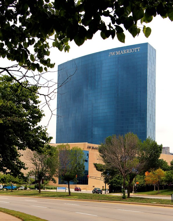 JW Marriott Hotel in downtown Indianapolis, Indiana.