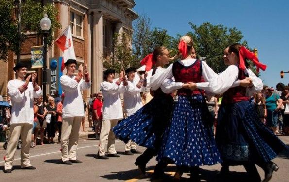 Ethnic dancing at the Pierogi Fest