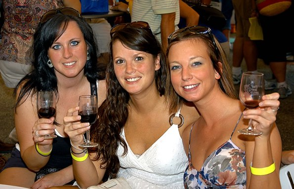 At the 2012 Swiss Wine Festival in Vevay, Indiana.