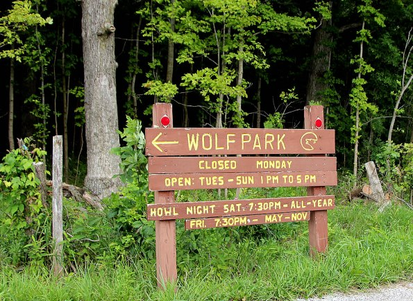 Entrance to Wolf Park.