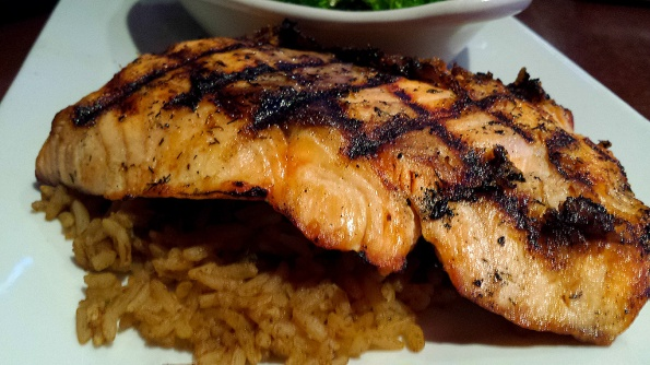 Grilled Salmon at Scotty's Brewhouse