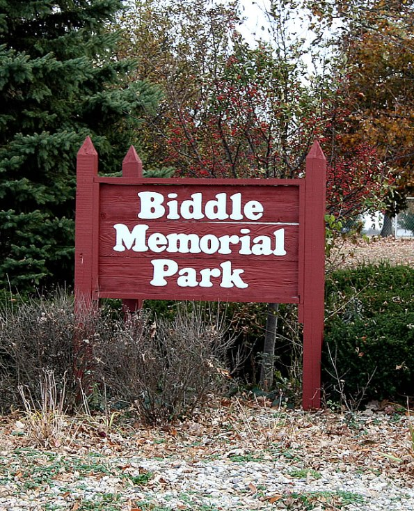 Biddle Memorial Park in Sheridan