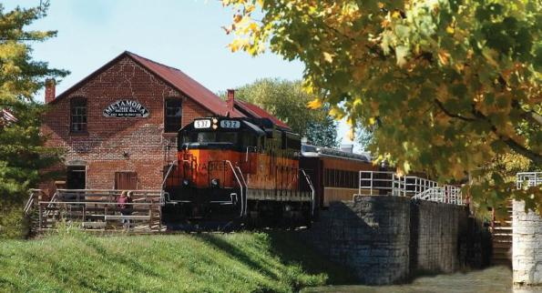 Whitewater Valley Railroad Train in Metamora