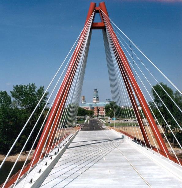 Second Street Bridge in Columbus, Indiana