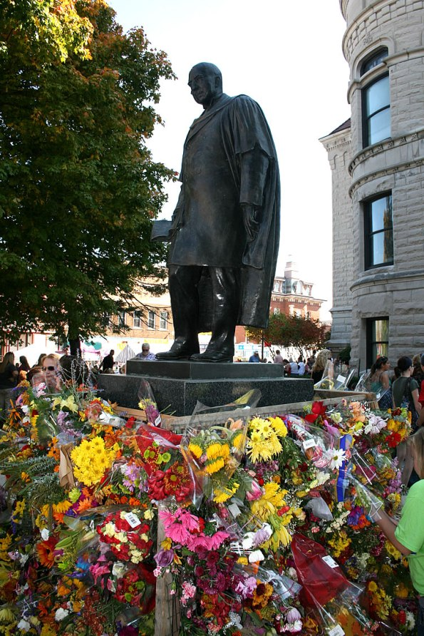 James Whitcomb Riley Statue in Greenfield