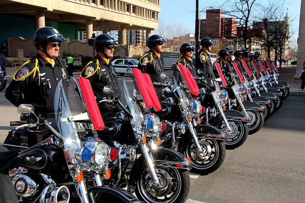 IMPD Motorcycle Drill Team at the 2012 Veterans Day Parade.
