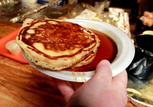 Pancakes and Maple Syrup at the Maple Syrup Festival.