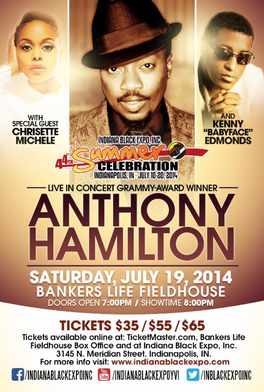 Anthony Hamilton at Bankers Life Fieldhouse.