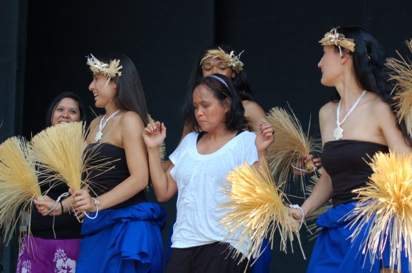 Hula dancing at the Asian Fest.